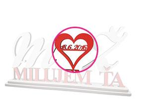 299934301b Vaše inicálky na nápise Milujem ťa - Aicul
